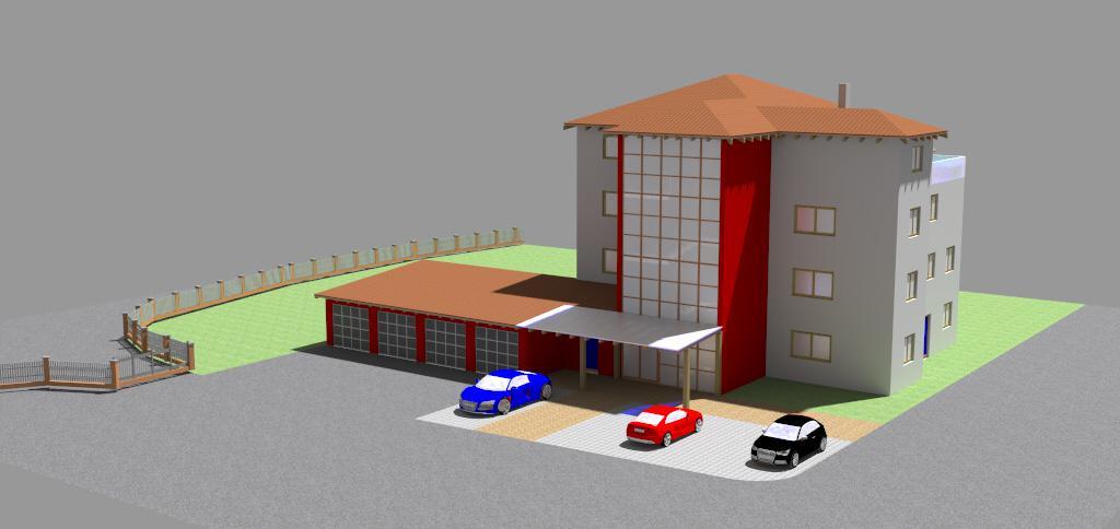Bürogebäude mit Privatwohnung Schonstett 3